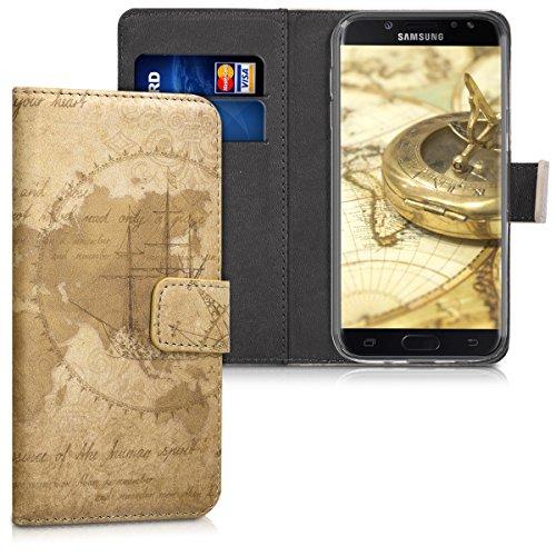 kwmobile Custodia compatibile con Samsung Galaxy J5 (2017) DUOS - Cover magnetica portafoglio con stand in simil pelle - Case porta carte