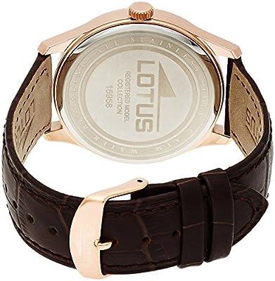 Lotus 15958/2 - Reloj de pulsera hombre, Cuero, color Marrón de Lotus