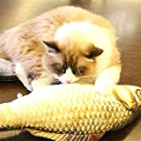 XUJW-PET Simulation Fisch Spielzeug Lustige Katze Spielzeug Fisch Stuff Scratching Post Board Spielzeug, klein Größe: 21,5 x 8,0 x 5,0cm