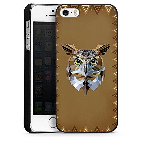 Apple iPhone 5c Housse Outdoor Étui militaire Coque Hibou Hibou Uhu CasDur noir