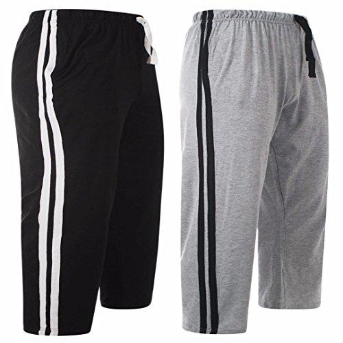 MyShoeStore Mens Lounge Wear Shorts Nightwear Comfort Elasticated Waist Bottoms Poly Cotton Pyjama PJS Joggers Sleepwear Plain Casual Gym Lightweight Loungewear Sizes S-2XL