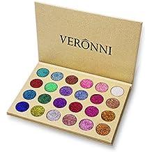 Veronni 24 Colors Pressed Super Pigment Glitter Eyeshadow Palette, Eye Shadow Palette