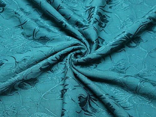 Jacquard-gewebe (Floral Gewebe der Jacquard Kleid Blaugrün–Meterware)