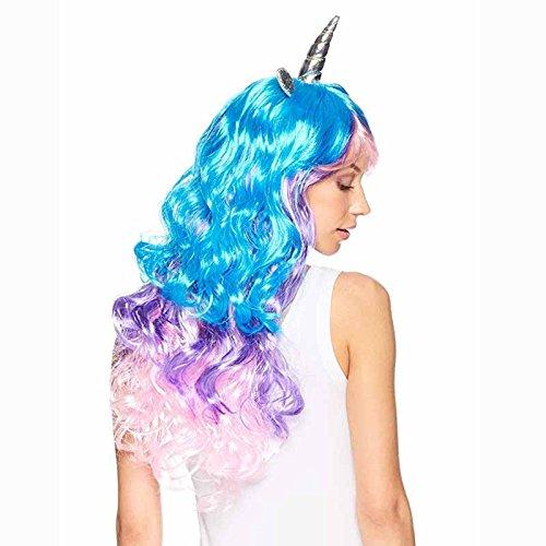 Regenbogen Einhorn Cosplay Perücke Stirnband Halloween Kostüme für kind erwachsene geburtstag Bachelorette Hen Party Mädchen Nacht Dekoration geschenk