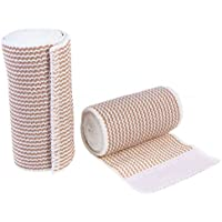 ULTNICE 2pcs Haftbandage Baumwolle elastische Bandage Kompression Binde mit Klettverschluss an einem Ende preisvergleich bei billige-tabletten.eu