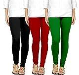 #2: Gopani Cotton Lycra Leggings for Women Combo (Pack of 3)