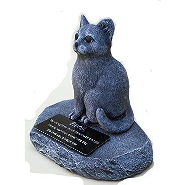 CAT MEMORIAL Loss of Cat. Beloved pet. Pet Loss. Cat gravestone. Cat sympathy.