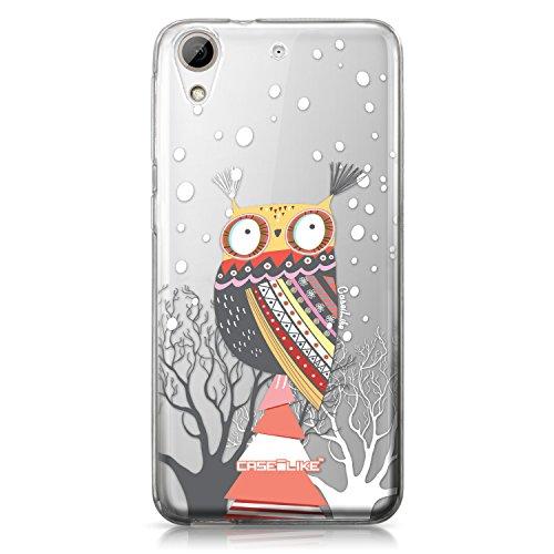 CASEiLIKE Coque HTC 626 , Chouette graphisme 3317, TPU Silicone Soft Housse Etui Coque Pour HTC Desire 626