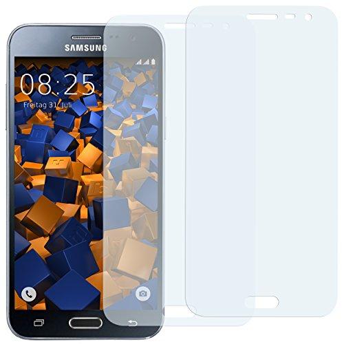 mumbi Schutzfolie kompatibel mit Samsung Galaxy J3 2016 Folie klar, Bildschirmschutzfolie (2x)