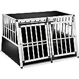 TecTake XXL Cage box caisse de transport aluminium en forme de trapèze pour chien (lxPxH): 104 x 91 x 69,4 cm