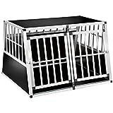TecTake Cage Box Caisse en Forme de trapèze Aluminium - diverses modèles - (104x90,5x69cm | No. 402226-13)