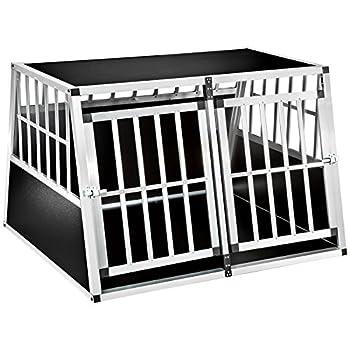 TecTake Cage box caisse en forme de trapèze aluminium - diverses modèles - (104x91x69,4cm | No. 402226-13)