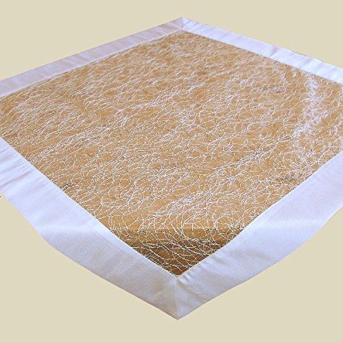 Tischdecke 110x110 cm Organza Ecru Fizz Satin Organzadecke Mitteldecke Decke