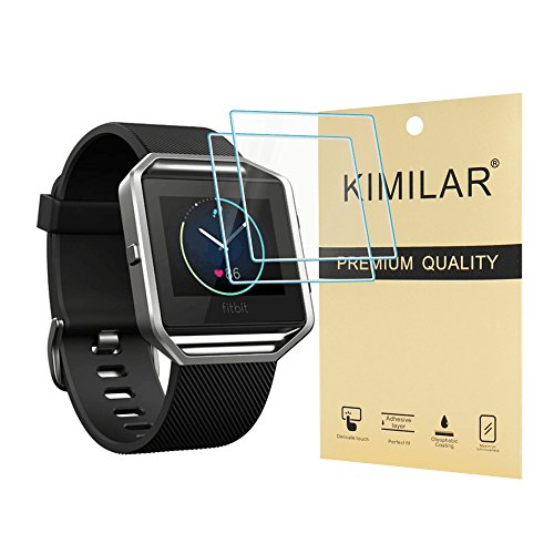 Fitbit Blaze temperiert Glasschutz, [2 Pack] KIMILAR Premium HD Clear Folie / Ultra High-Definition-unsichtbar und Anti-Blase-Crystal-Schild