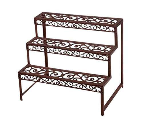 Traditional cast iron etagere rectangular etagere for Portavasi a scaletta