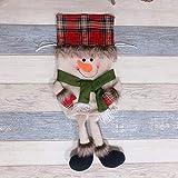 Weihnachten Dekoration Weihnachts-Kordel Geschenk-Tasche Schneemann Aufhängen Deko für Zuhause, Kaminsims, Weihnachten
