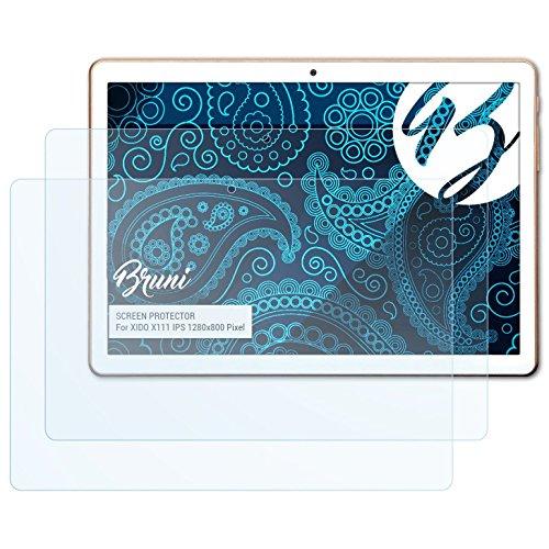 Bruni Schutzfolie für XIDO X111 IPS 1280x800 Pixel Folie, glasklare Bildschirmschutzfolie (2X)