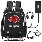 Siawasey anime Naruto Cosplay zaino Bookbag laptop bag scuola con porta USB di ricarica 1