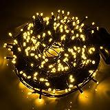 Ulinek Guirlandes Lumineuses, 40M 300 LEDs Guirlande Interieur Décoration Lumiere avec 8 Modes d'éclairage pour Anniversaire, Sapin de Noël, Christmas Arbre, Mariage, Party, Blanc Chaud