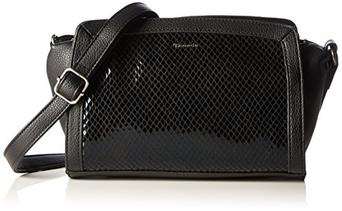 Tamaris Damen Jimmy Crossbody Bag Umhängetaschen, Schwarz (Black Comb 098), 27x16x8 cm