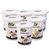 nutristyle Protein Müsli, Probierset mit 6 x 60g To-Go Becher, Schoko, Red Berry & Citrus-Mango mit 47% Protein und 12% Kohlenhydrate, Hergestellt in Deutschland - Angebotspreis