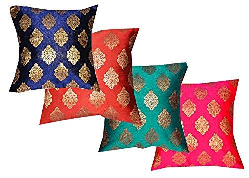 Dopian silk all bright colour mix (nevy blue, greenish blue, pink, orange)Cushion...