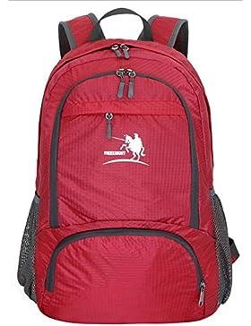 FakeFace Rucksack Faltrucksack Wanderrucksack Reiserucksack Daypack Picknickrucksäcke Wasserdicht Tasche Tragetasche...