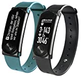 SportPlus Unisex Activity Tracker Q-Band HR+ – Fitness Tracker with OLED Display for iOS and Android and Heart Rate Monitor