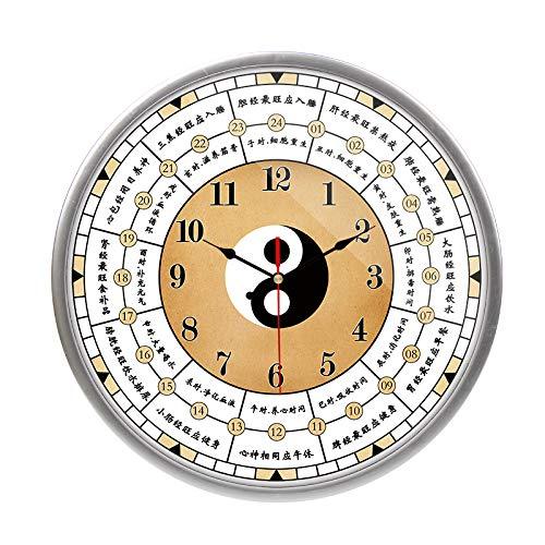 RZJF Wanduhr - Kreative Krankenhausuhr, Chinesische Traditionelle Medizin Quarzuhr Meridian F Graue Grenze 12 Zoll -