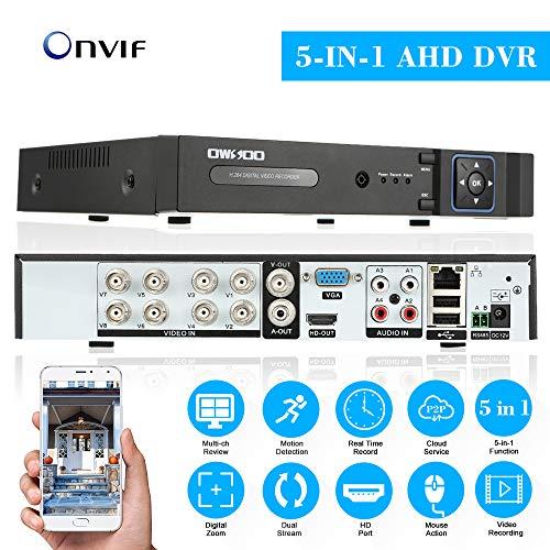 NO HDD Q-camera 4CH 4MP Full HD Ibrido AHD//TVI//CVI//Analog//Onvif IP DVR H.264 Videoregistratore Cctv P2P Remoto Per Telecamera Di Sicurezza Domestica Sistema Di Sorveglianza
