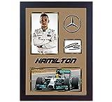 Lewis Hamilton signé autographe Memorabilia Mercedes AMG Formule 1Petronas # 8