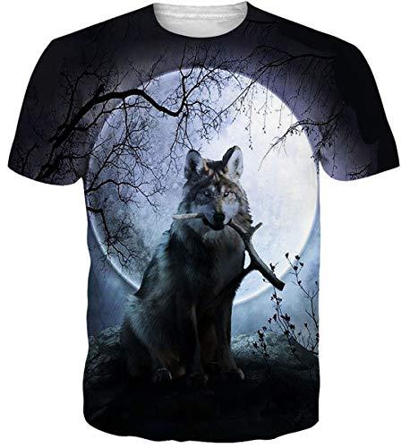- Tier (Idgreatim Unisex Casual 3D Print Tier Kurzarm T-Shirt Grafik T-Shirts)