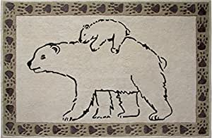 Toulemonde Bochart Collection Kids Modèle Polaire Tapis Coton Ecru 170 x 110 cm