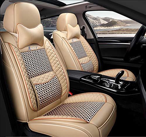 OYDA Luxury Ice Silk-Autositzbezug aus Leder - Rutschfestes, mit Wildleder gefüttertes Universal-Sitzkissen für Autositze aus Stoff und Leder-1 Hybrid Fusion Protector