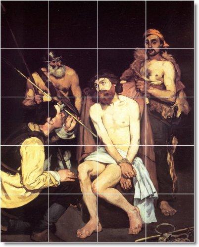 EDUARD MANET RELIGIOSO PARA AZULEJOS MURAL 11  48X 60CM CON (20) 12X 12AZULEJOS DE CERAMICA
