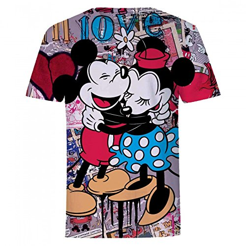 Disney - T-Shirt Collage Mickey et Minnie Mouse - Adulte Mixte Disney