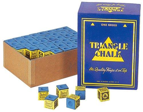 Billard Kreide Triangel blau, 144 Stück Box