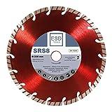 Diamanttrennscheibe Beton Turbo SRS8 - Ø 230 / Diamant-Scheibe mit 22,23 mm Bohrung Trennscheibe geeignet für Beton, Bordstein, Dachziegel und Verbundstein
