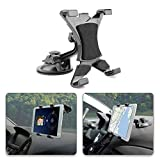 POMILE Tablet Car Holder, Tablet Supporto auto Regolabile a 360 Gradi con Forte Ventosa da Parabrezza Cruscotto per 7 '~ 10.5' Tablet, Apple iPad Air/Mini portatile, Samsung Galaxy Tab, Kindle Fire
