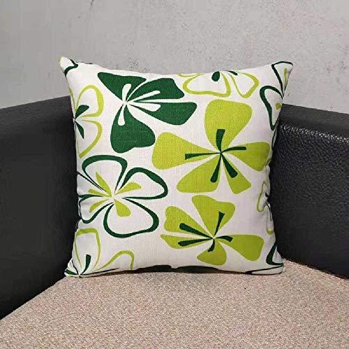 kkh Kissen der Kissen Wohnzimmer MIT Sofa - Bett, große Kissen Quadrat kopfstütze rückenlehne 45X45cm/Pracht der Grünen - Blume-bett-satz