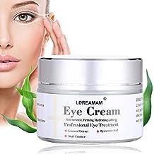 Crema de Ojos,Contorno de Ojos Anti Edad,Eye Cream,Serum Contorno de Ojos Anti arrugas, Elimina la hinchazón, las ojeras, líneas finas y arrugas