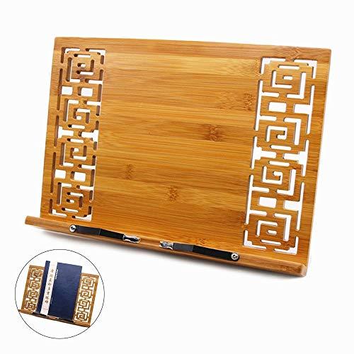 Joyoldelf Bambú soporte para Libro de cocina,