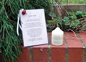In Loving Memory Memorial Card 'Until Then' and Not Forgotten Candle.