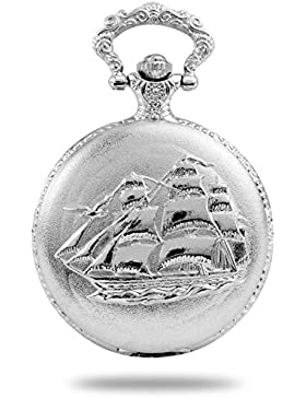 Taschenuhr Silber Schiff Schifffahrt Geschenktipp