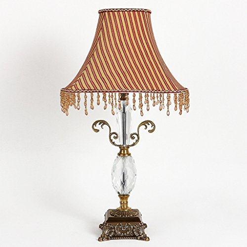 SKC Lighting-lampe de table Lampes de table en cristal Lampe de cuivre pleine Lampe de chevet simple maison Lampe de table de chambre à coucher / E27