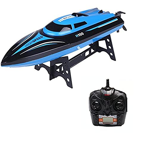 DeeXop Rc Boat 2.4GHz High Speed Remote Control Boat Electric Boat (H100)