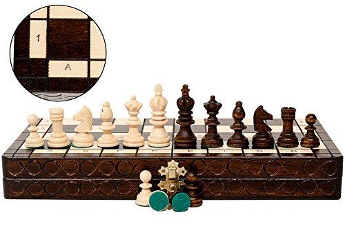 Super GROßE OLYMPISCHE 35cm/14 'Turnier aus Holz Schachspiel