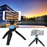 Easy Go Shopping Taschen-Mini-Stativhalterung mit 360-Grad-Kugelkopf-Telefonklemme für Smartphones Kamerazubehör (Großauswahl : Tripod+clamp (b))