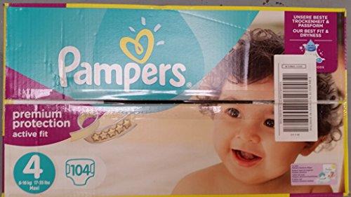 Preisvergleich Produktbild Pampers Active Fit Größe 4 Maxi 7-18kg Giga Pack (1 x 104 Windeln)