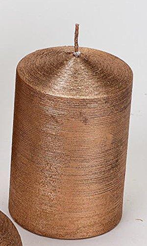 formano Stumpenkerze gerillt kupfer, 7x11 cm
